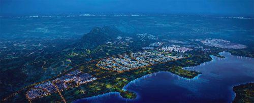 藏马山整体效果意向图 西海岸发展集团供图