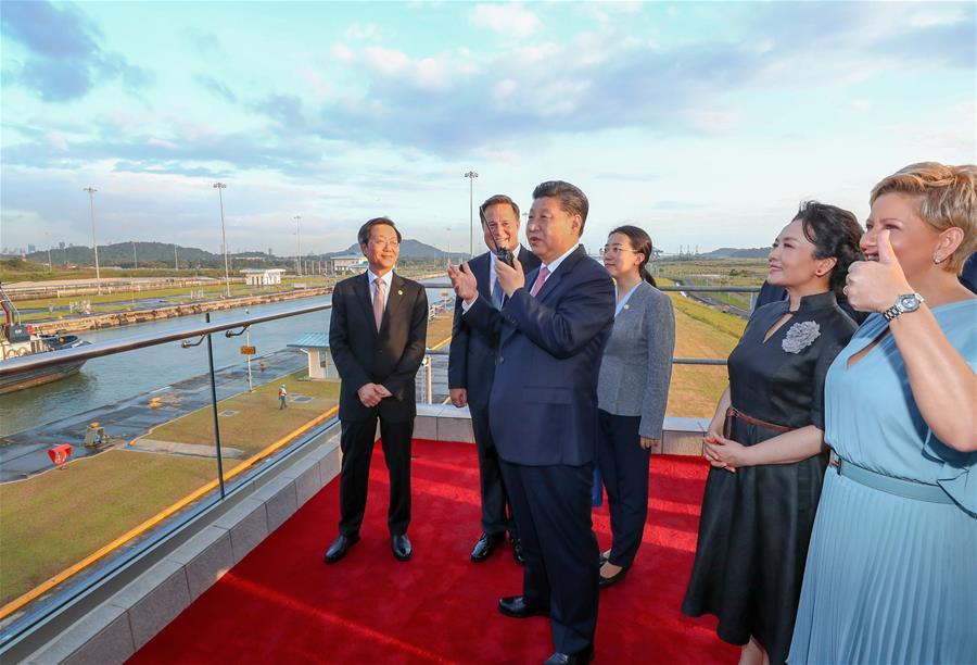 PANAMA-CHINA-XI JINPING-CANAL-NEW LOCKS-VISIT