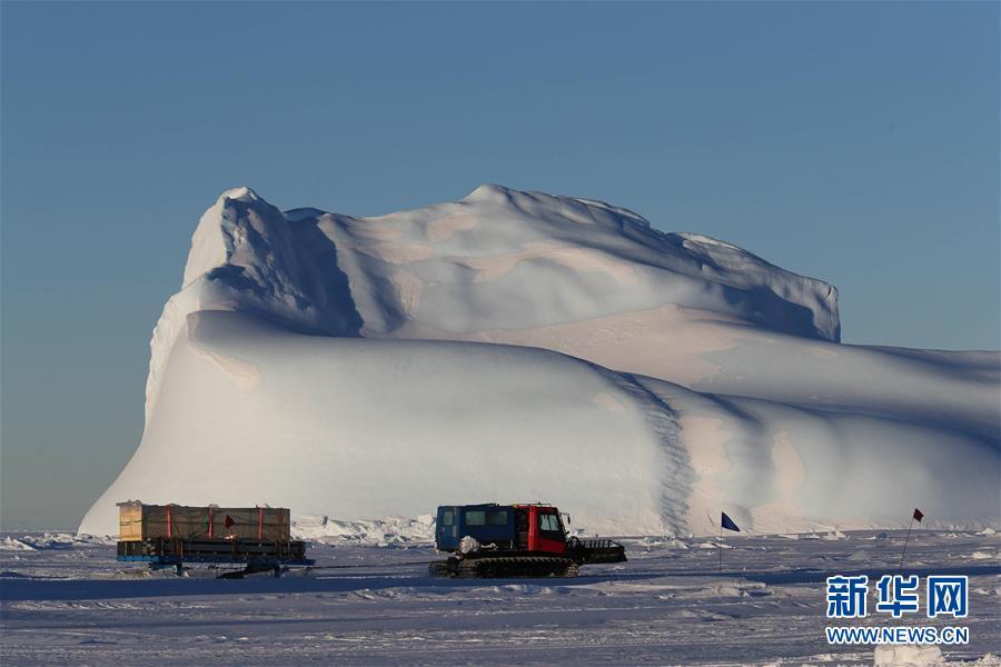"""(""""雪龙""""探南极·图文互动)(2)中国第35次南极科考完成第一阶段物资卸运"""