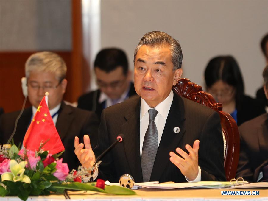 LAOS-CHINA-WANG YI-MEKONG-LANCANG-COOPERATION
