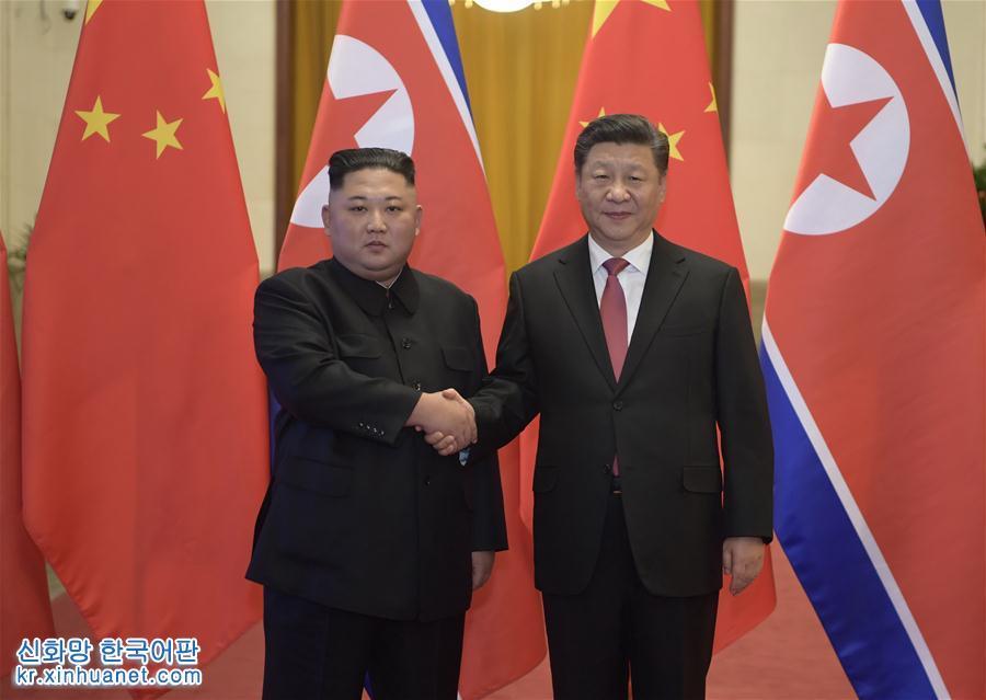 (时政)(1)习近平同朝鲜劳动党委员长金正恩举行会谈