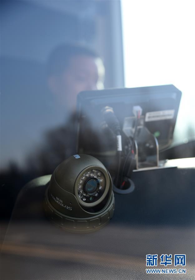 这是应用于无人驾驶汽车的高清探头(1月22日摄)。<br/>