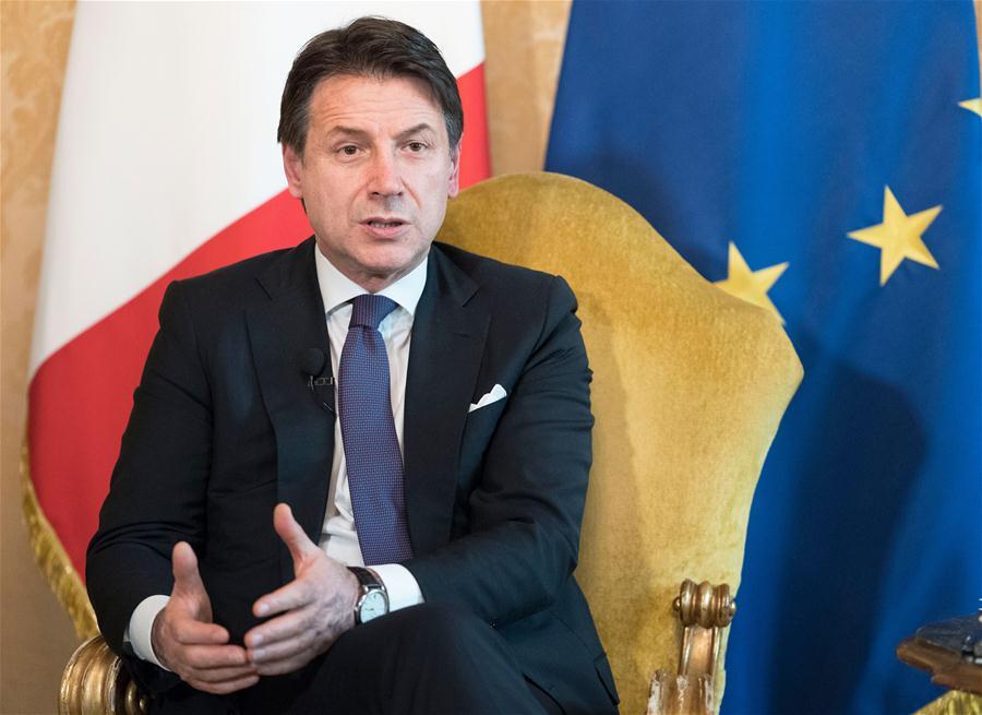 ITALY-ROME-PM-GIUSEPPE CONTE-INTERVIEW