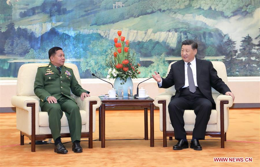 CHINA-BEIJING-XI JINPING-MYANMAR-MEETING (CN)
