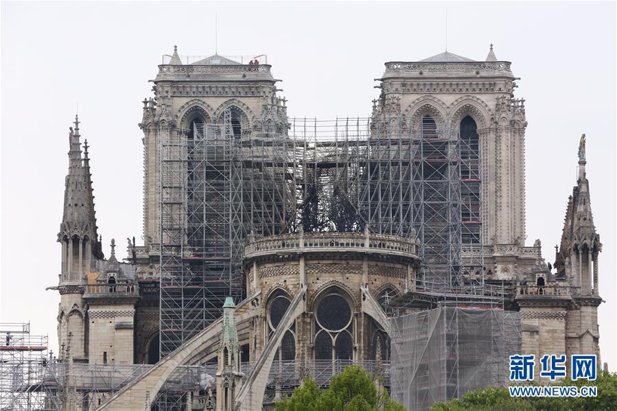 <br/>   这是4月16日在法国巴黎拍摄的火灾后的巴黎圣母院。
