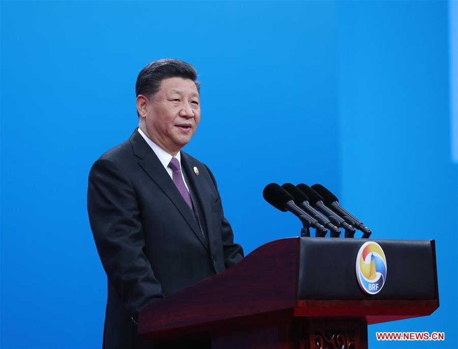 <br/>Chinese President Xi Jinping delivers a keynote speech at the opening ceremony of the Second Belt and Road Forum for International Cooperation in Beijing, capital of China, April 26, 2019. (Xinhua/Ju Peng)<br/>Chinese President Xi Jinping on Friday attended the opening ceremony of the Second Belt and Road Forum for International Cooperation in Beijing.<br/>