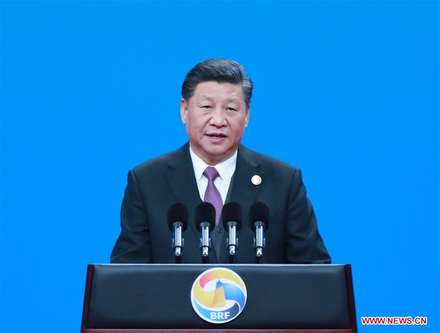 Chinese President Xi Jinping delivers a keynote speech at the opening ceremony of the Second Belt and Road Forum for International Cooperation in Beijing, capital of China, April 26, 2019. (Xinhua/Pang Xinglei)