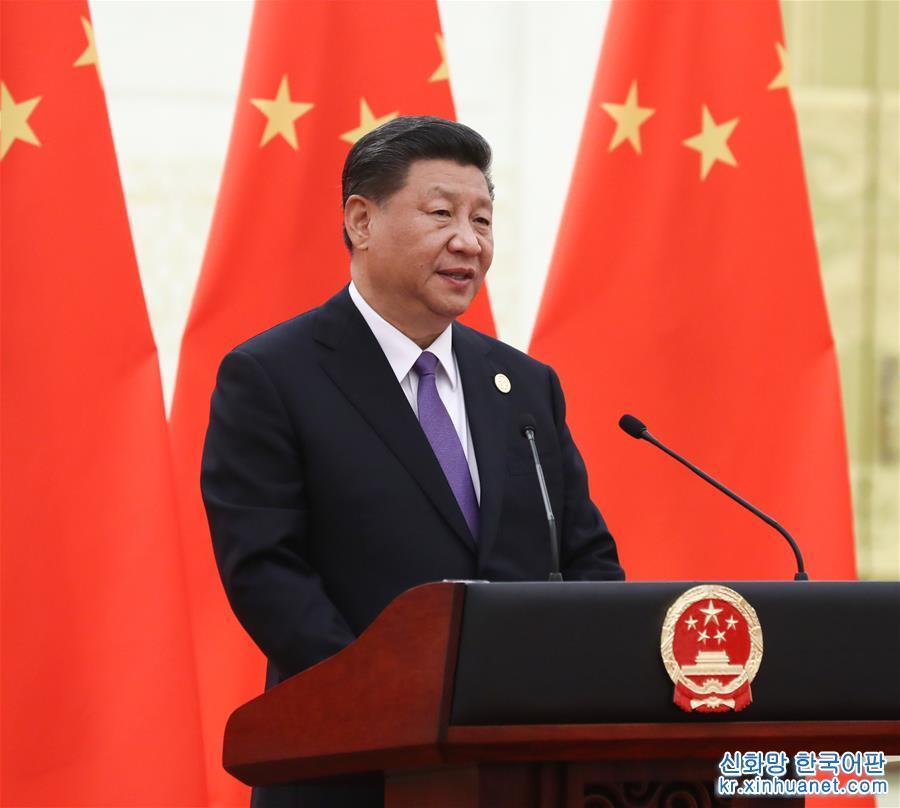 (时政)(1)习近平和彭丽媛欢迎出席亚洲文明对话大会的外方领导人夫妇及嘉宾