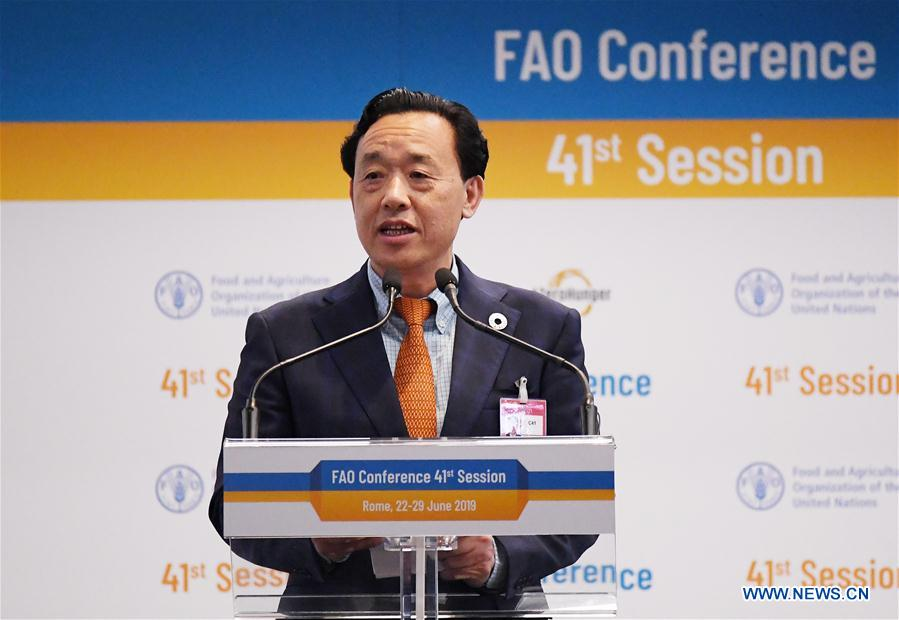 ITALY-ROME-FAO-NEW DIRECTOR-GENERAL-CHINA-QU DONGYU