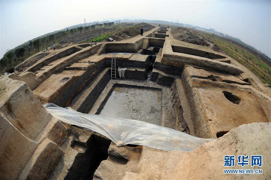 양저(良渚)고성유적지 발굴 현장 [사진 출처: 신화망]<br/>