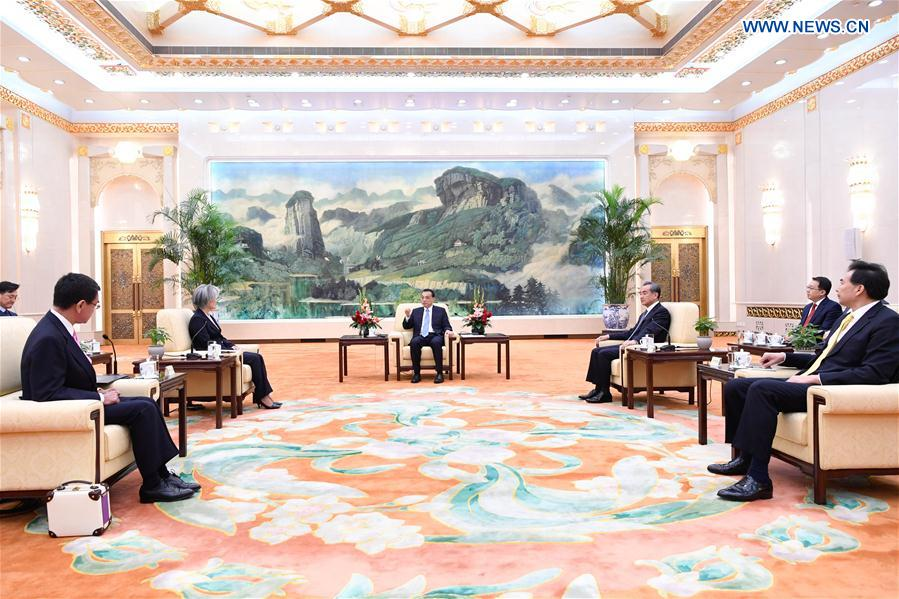 CHINA-BEIJING-LI KEQIANG-ROK-JAPAN-FMS-MEETING (CN)
