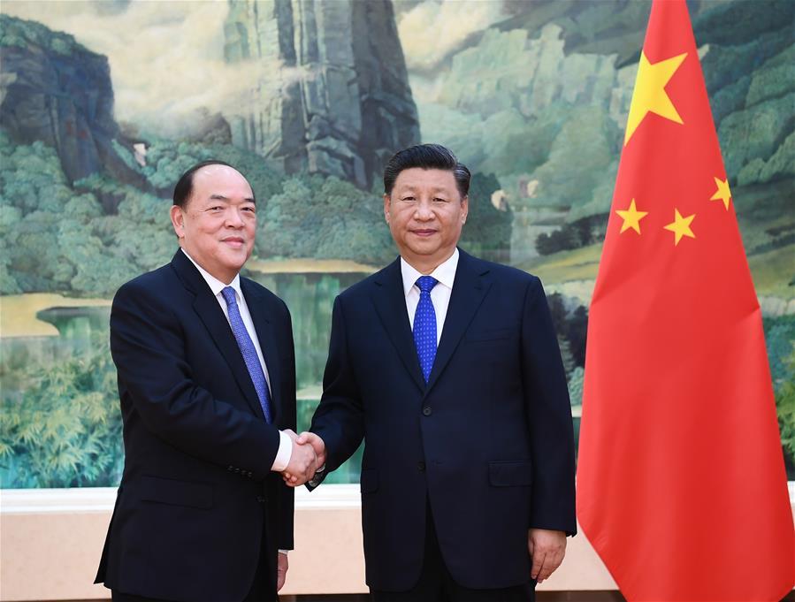 CHINA-BEIJING-XI JINPING-HO IAT SENG-MEETING (CN)