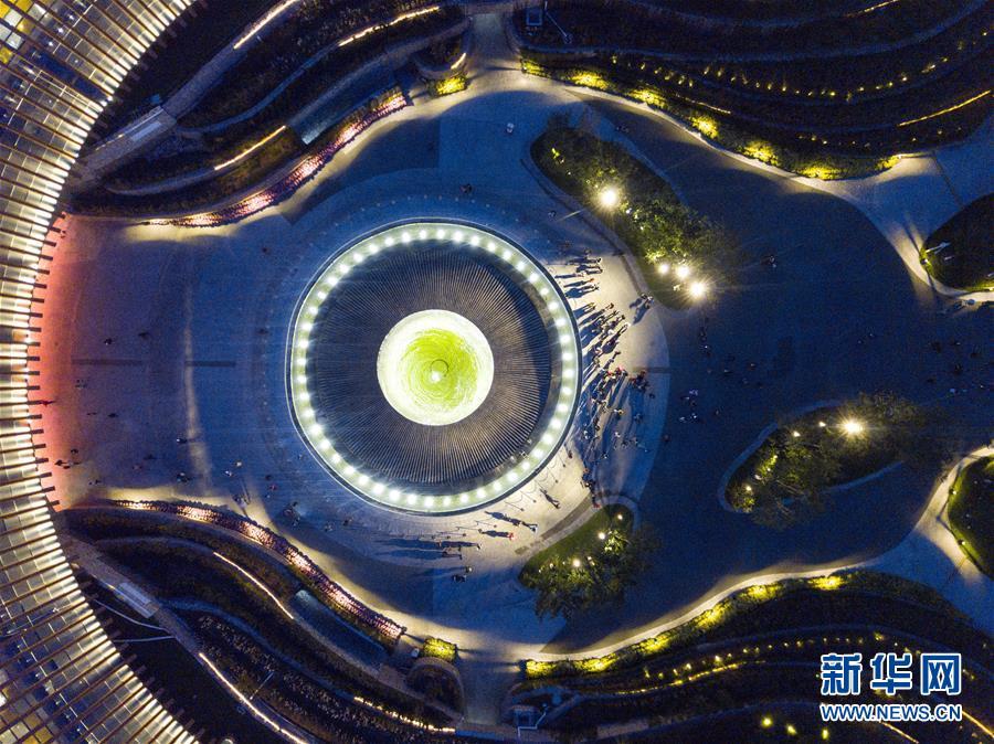 베이징세계원예박람회 중국관(10월 드론 촬영). 162일에 걸친 2019년 중국 베이징세계원예박람회가 10월 9일 폐막된다. 4월 28일 개원 이래, 베이징세계원예박람회가 추진한 총 3,284차 행사에 934만명 국내외 유람객이 찾아와 관람했다.<br/>