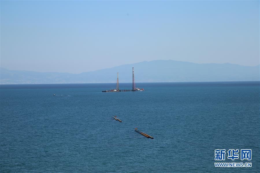 터키 후누틀루(Hunutlu) 발전소 해변 공사장 [9월 22일 촬영/사진 출처: 신화망]<br/>