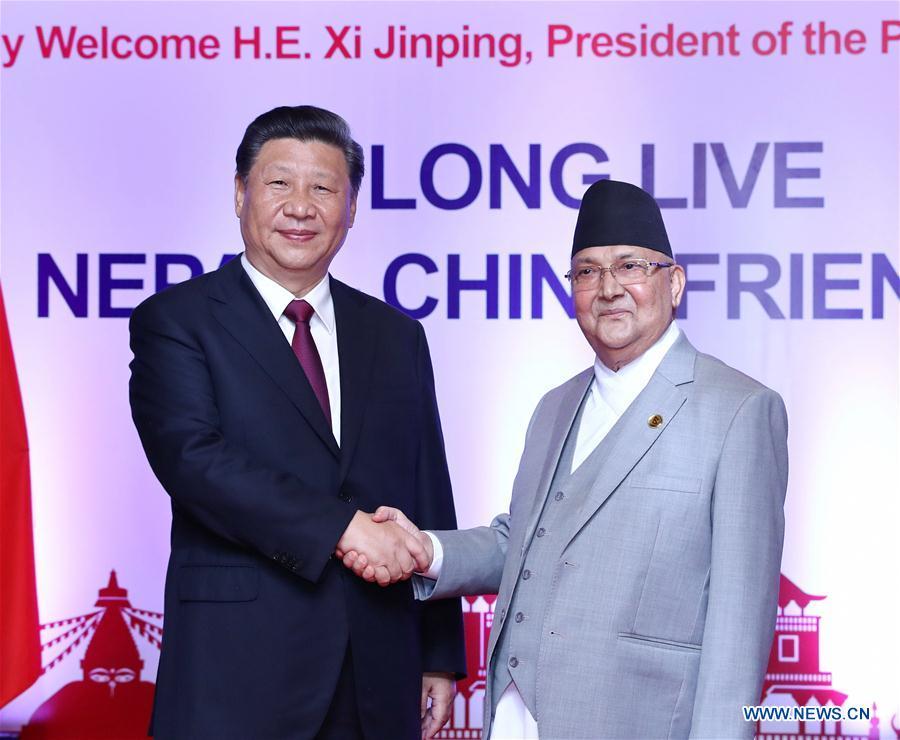 NEPAL-KATHMANDU-CHINA-XI JINPING-PM-TALKS