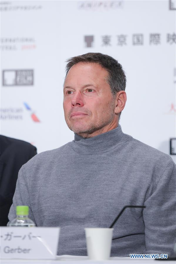 <br/> Uury member, producer Bill Gerber attends a press conference during the 32nd Tokyo International Film Festival in Tokyo, Japan, Oct. 29, 2019. (Xinhua/Ma Caoran)<br/>
