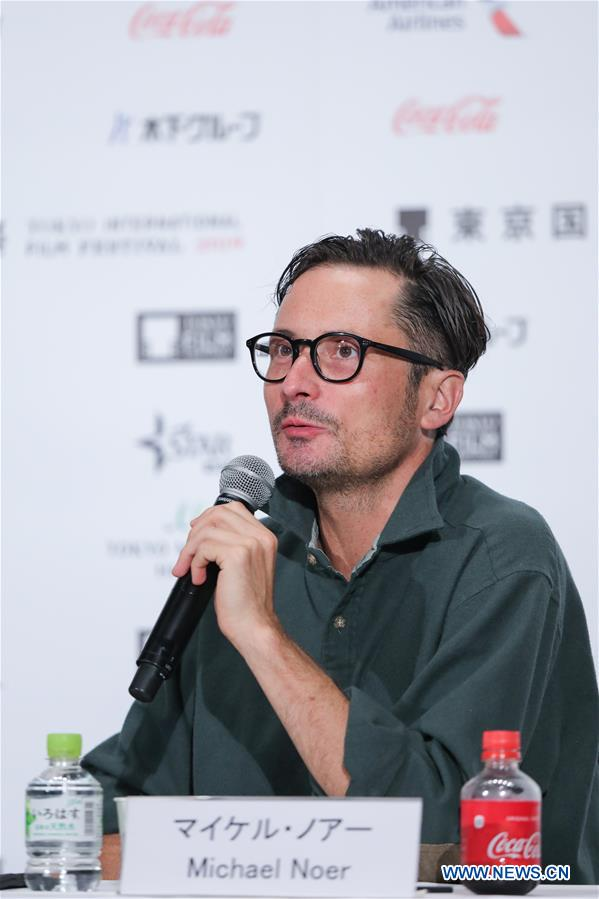 <br/> Jury member, director Michael Noer speaks at a press conference during the 32nd Tokyo International Film Festival in Tokyo, Japan, Oct. 29, 2019. (Xinhua/Ma Caoran)<br/>