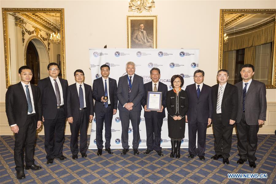 BRITAIN-LONDON-RAES-CHINA-CHANG''E-4 MISSION TEAM-AWARDING