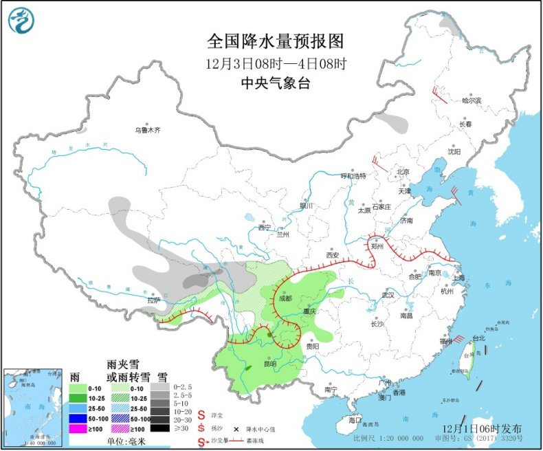 冷空气将影响我国大部地区 东部和南部海区大风
