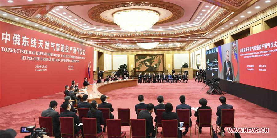 CHINA-BEIJING-XI JINPING-PUTIN-RUSSIA-NATURAL GAS PIPELINE-LAUNCHING CEREMONY (CN)