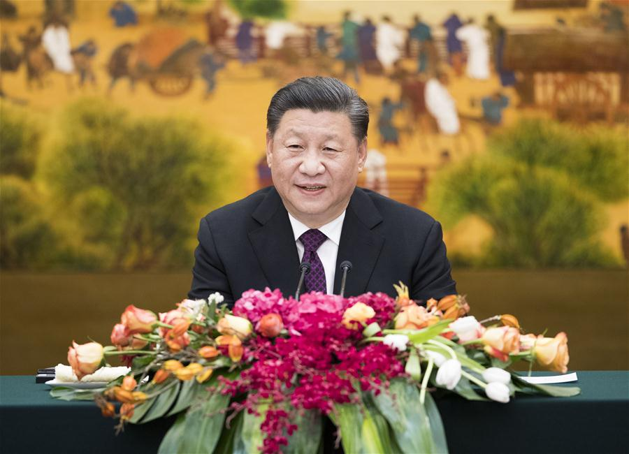 CHINA-BEIJING-XI JINPING-FOREIGN DELEGATES-IMPERIAL SPRINGS INT''L FORUM-MEETING (CN)