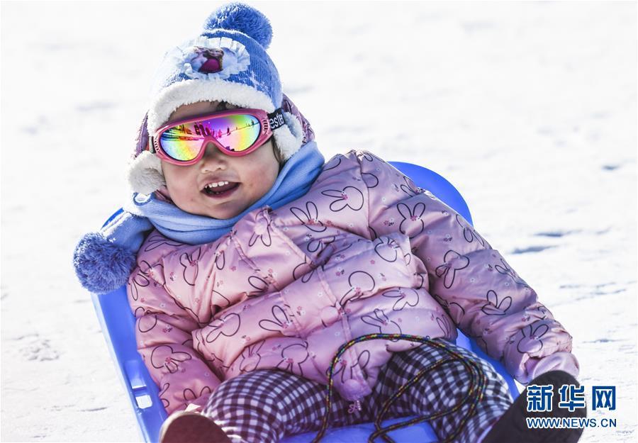 <br/>  12月8日,小朋友在位于乌鲁木齐县的新疆丝绸之路国际度假区玩雪爬犁。 入冬以来,冰雪资源富集的乌鲁木齐通过滑雪业、观光业以及传统文化节事,带热冬季旅游。乌鲁木齐市今冬计划举行60项以&ldquo;旅游+乐雪+文化+美食+博览&rdquo;为主题的冬季旅游活动,吸引天南海北游客前来体验冰雪风情。