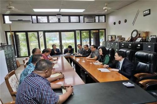 陈白薇率团访问密克罗尼西亚联邦
