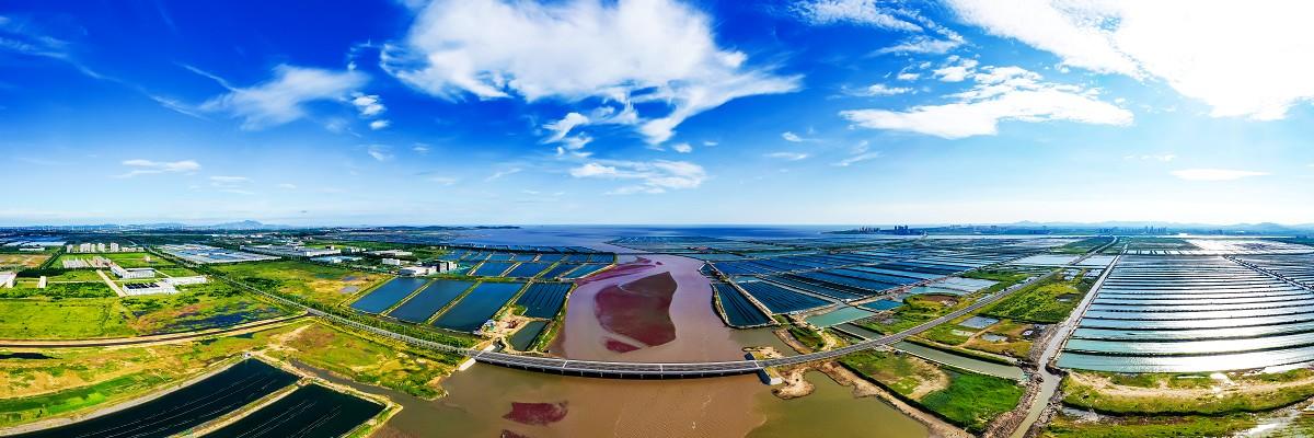 盐碱滩上起新城 空中看威海南海新区