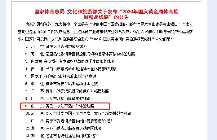 """文化和旅游部发布""""2020年国庆黄"""