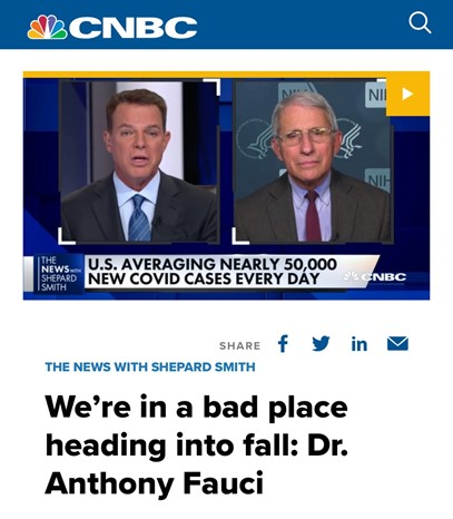 """北美观察丨美国疫情再暴发 福奇警告""""我们有大麻烦了"""""""