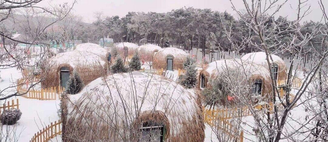 宛如童话世界!济南跑马岭景区再迎降雪