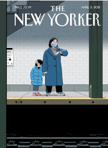 The cover of the latest issue of The New Yorker Delayed. By R. Kikuo Johnson.