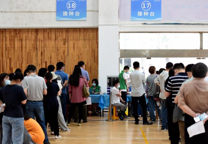 安徽:新冠疫苗接种进校园